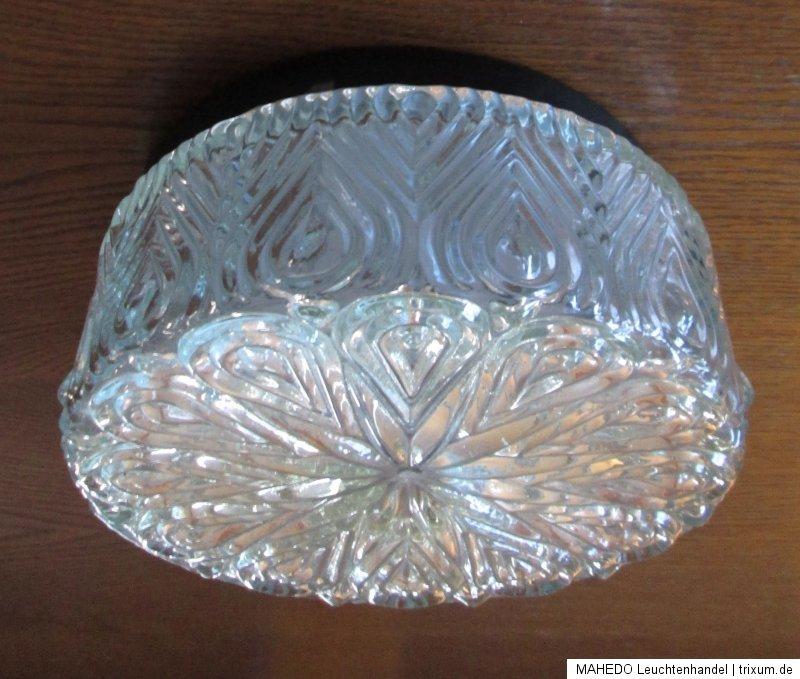 deckenlampe flurlampe hauseingang lampe leuchte decke kristall glas klar rund ebay. Black Bedroom Furniture Sets. Home Design Ideas