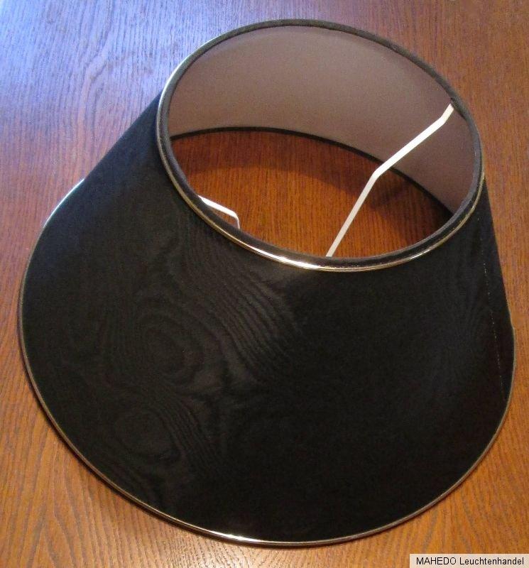 lampenschirm lampe stoff textil stoffschirm paulmann moire e27 schwarz gold ebay. Black Bedroom Furniture Sets. Home Design Ideas