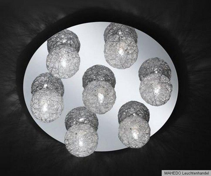 deckenleuchte deckenlampe action wofi fara 7x g9 halogen drahtkugeln kugel chrom ebay. Black Bedroom Furniture Sets. Home Design Ideas