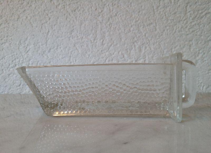 2 alte kleine glassch tten sch tten einsch be f r alten k chenschrank von poncet ebay. Black Bedroom Furniture Sets. Home Design Ideas