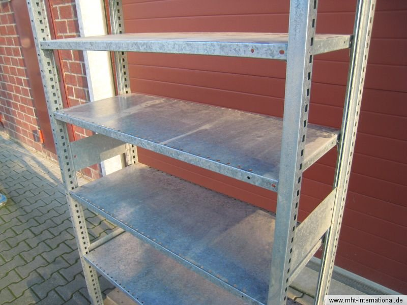 regal steckregal metallregal stecksystem ebay. Black Bedroom Furniture Sets. Home Design Ideas