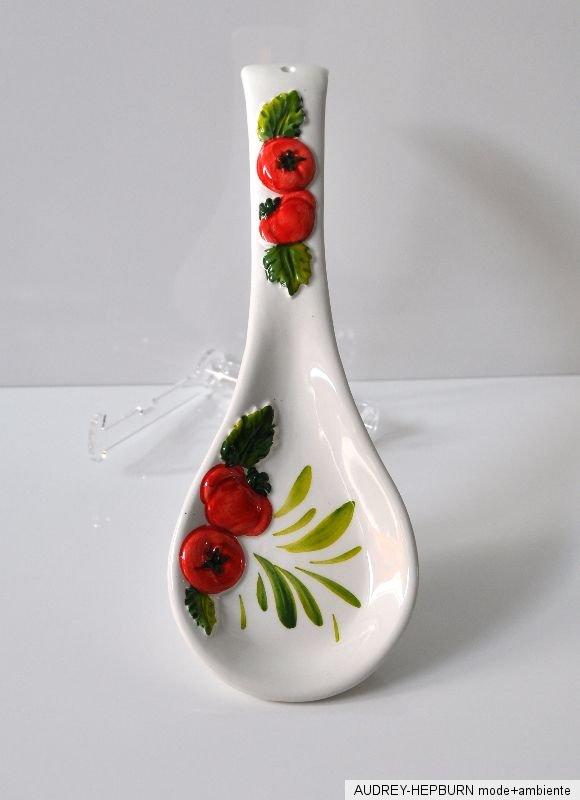 bassano keramik l ffelablage tomate mediterranes geschirr ebay. Black Bedroom Furniture Sets. Home Design Ideas