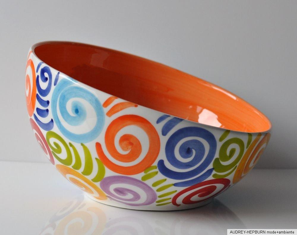 bassano keramik sch ssel 24 5 cm bunte spiralen. Black Bedroom Furniture Sets. Home Design Ideas