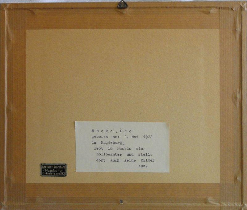 udo rocke 1922 expressionismus aquarell 1962. Black Bedroom Furniture Sets. Home Design Ideas