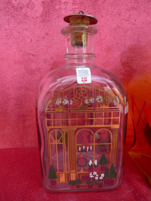 2 sch ne alte flaschen segelschiff holmegaard zierflaschen karaffen ebay. Black Bedroom Furniture Sets. Home Design Ideas