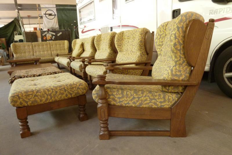 Sitzgarnitur Couchgarnitur 2x Sofa 3x Sessel Couchtisch