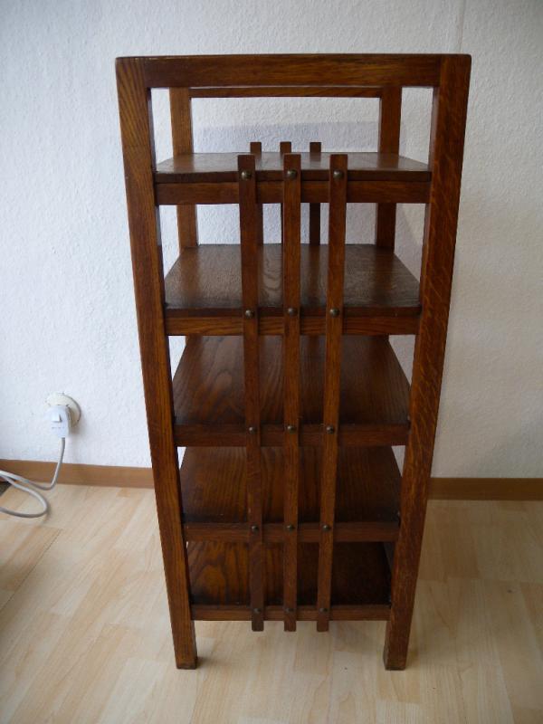 art deco bauhaus holz regal etagere zeitungsst nder aktenregal orig 20er 30er ebay. Black Bedroom Furniture Sets. Home Design Ideas