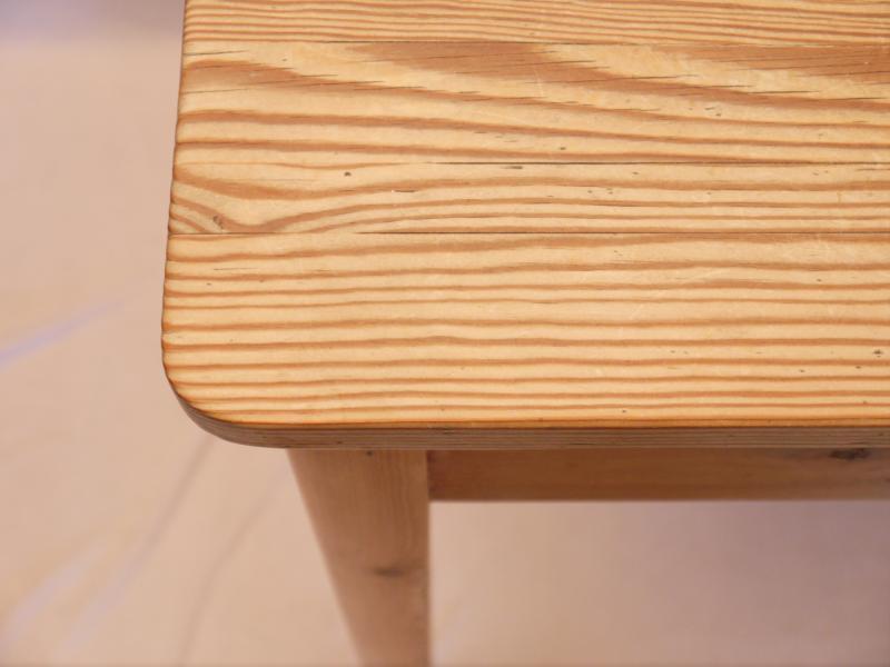 sch ner kleiner weichholz k chentisch mit einer schublade um 1900 ebay. Black Bedroom Furniture Sets. Home Design Ideas