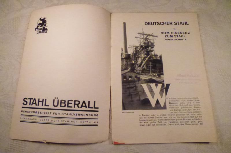 deutscher stahl ii vom eisenerz zum stahl beratungstelle stahlverwendung 1934 ebay. Black Bedroom Furniture Sets. Home Design Ideas