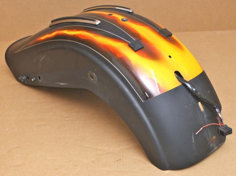 Harley Fxd Fenders : Harley original tailgate rear fender mudguard dyna fat bob