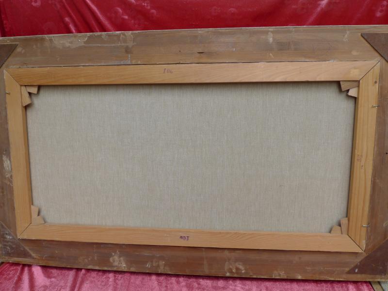 sch nes altes gem lde aufgew hltes meer lothar schl ter seest ck 118x68cm ebay. Black Bedroom Furniture Sets. Home Design Ideas