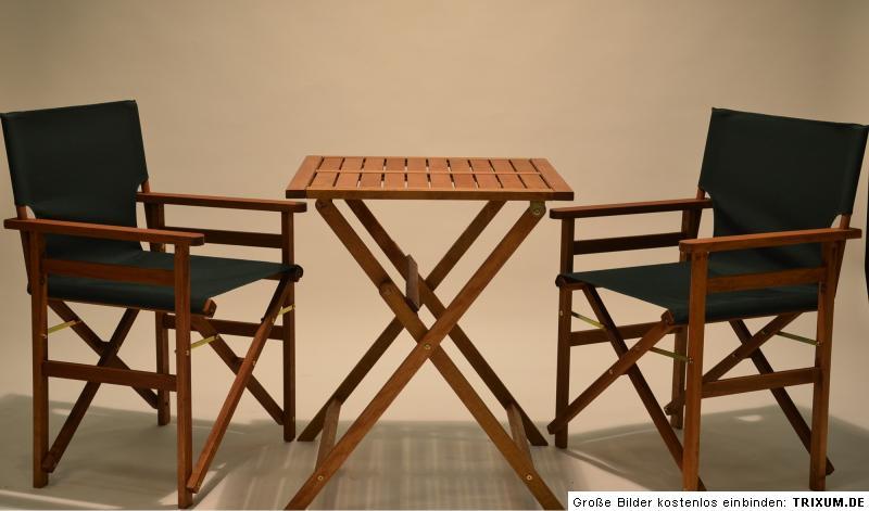 tischset 2regiest hle gr n klapptisch 60x60 cm holz balkon set sitzgruppe m bel ebay. Black Bedroom Furniture Sets. Home Design Ideas