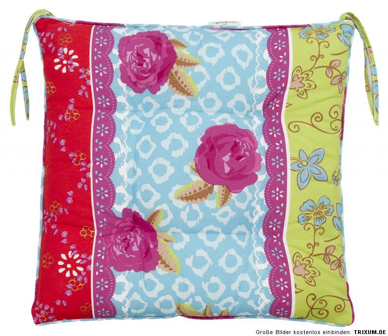 auflagen kissen hochlehner liege zierkissen flower power bl mchen muster garten ebay. Black Bedroom Furniture Sets. Home Design Ideas