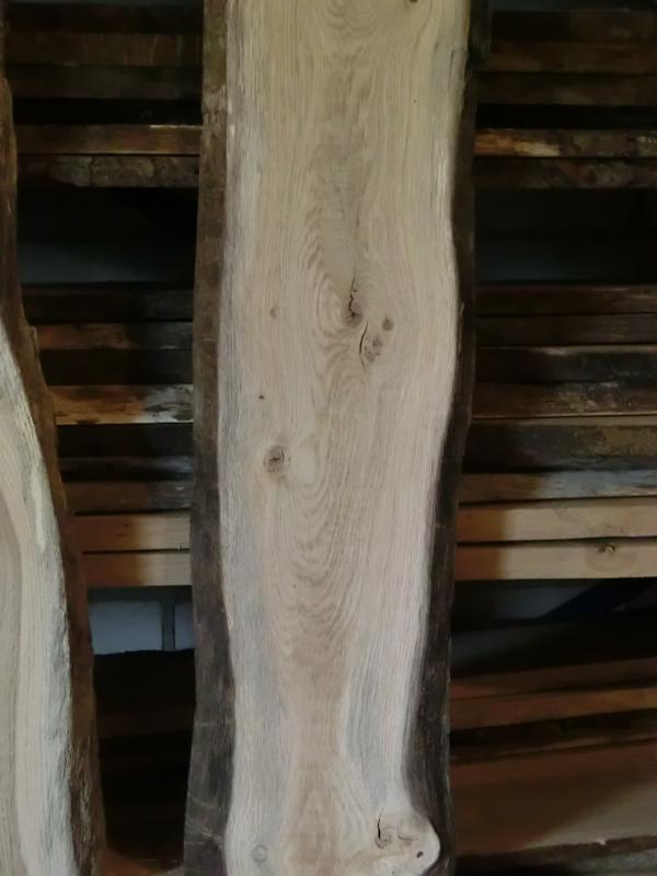 2 deko eichenbretter 170cmx14 21cm x 18 24mm 2 seitig gehobelt eiche pos924 ebay. Black Bedroom Furniture Sets. Home Design Ideas