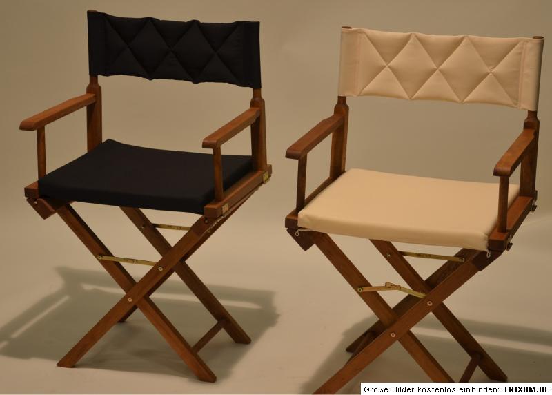 regiestuhl creme schwarz campingstuhl klappstuhl hartholz. Black Bedroom Furniture Sets. Home Design Ideas