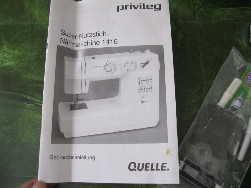SuperNutzstich Nähmaschine Privileg 1416 Freiarm mit  ~ Nähmaschine Quelle Privileg
