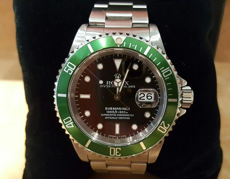 rolex submariner 16610 stahl gr n revision box rechnung ebay. Black Bedroom Furniture Sets. Home Design Ideas