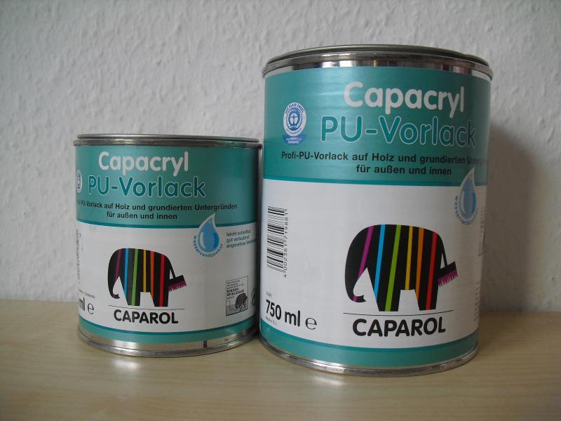 caparol capacryl pu vorlack wei 0 375 l 0 75 l lack primer acryl. Black Bedroom Furniture Sets. Home Design Ideas