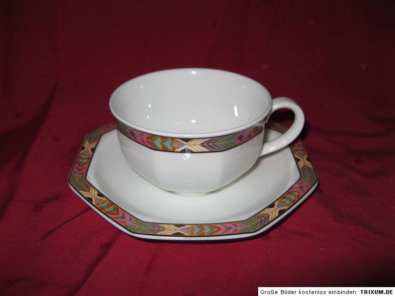 teetasse tasse untertasse heinrich villeroy boch cheyenne bone china teegedeck. Black Bedroom Furniture Sets. Home Design Ideas