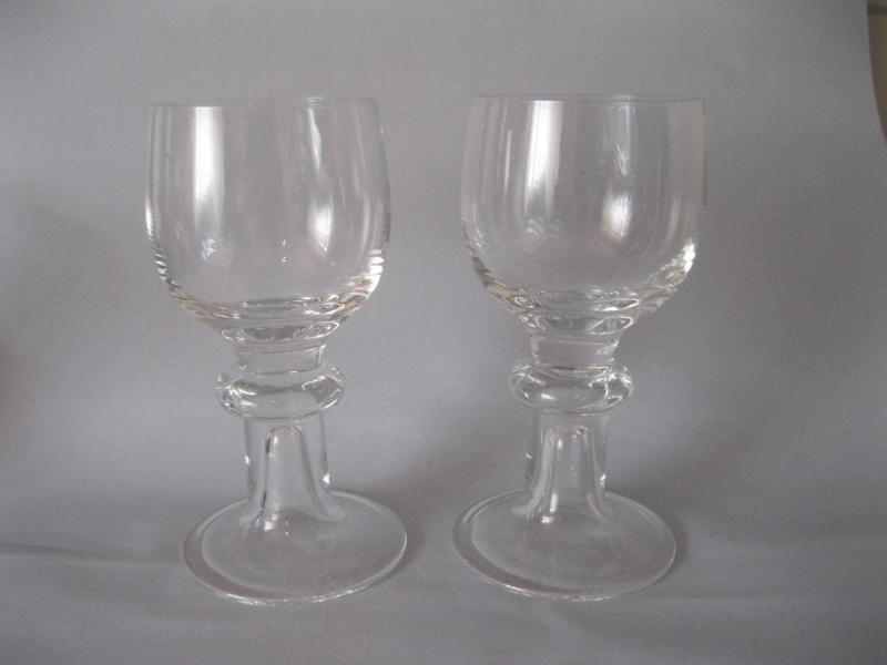 2x hutschenreuther glas weinglas wasserglas fu glaspokal hr signatur. Black Bedroom Furniture Sets. Home Design Ideas