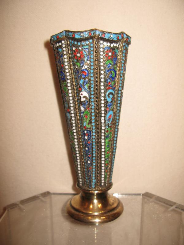 Große Vase Silber : gro e vase silber emalie cloisonne russland 1910 ebay ~ Indierocktalk.com Haus und Dekorationen