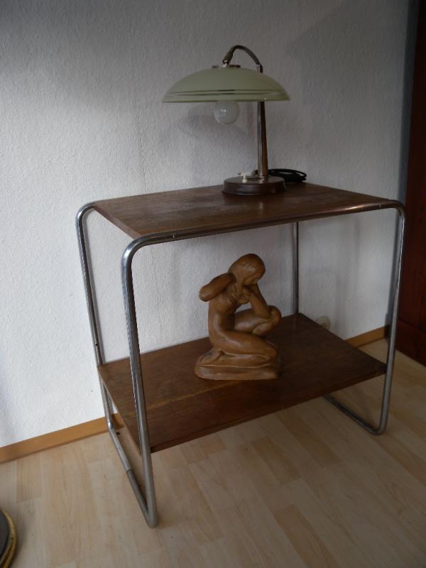 Original bauhaus art deco stahlrohr regal beistelltisch for Bauhaus nachbau