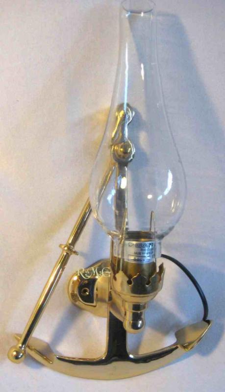 Messing Lampe Maritim