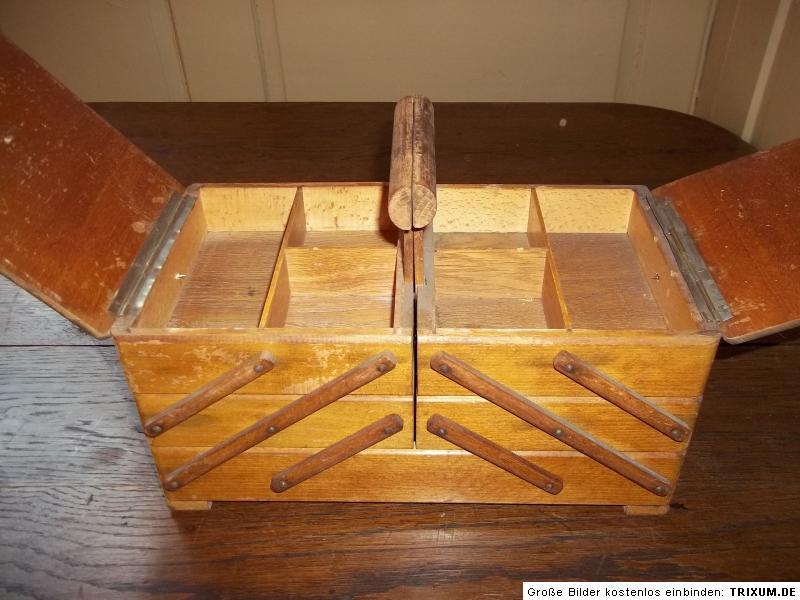 sch ner alter holz n hkasten n hk stchen um 1940 ebay. Black Bedroom Furniture Sets. Home Design Ideas