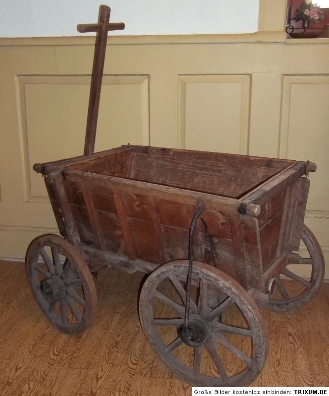alter holz handwagen kastenwagen leiterwagen bollerwagen. Black Bedroom Furniture Sets. Home Design Ideas