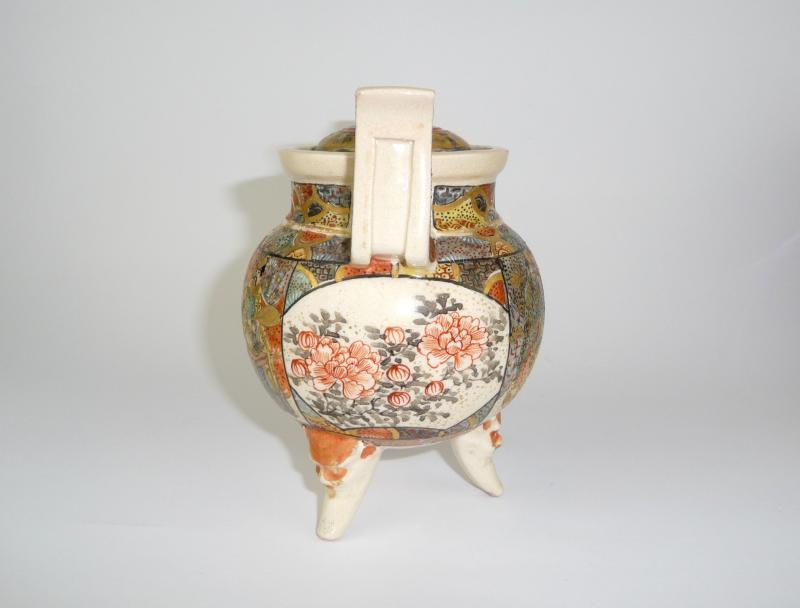 koro seltene satsuma vase mit deckel japan meiji gef b 34 ebay. Black Bedroom Furniture Sets. Home Design Ideas