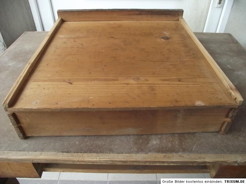 alter antiker tisch esstisch k chentisch weichholztisch schublade gr nderzeit ebay. Black Bedroom Furniture Sets. Home Design Ideas