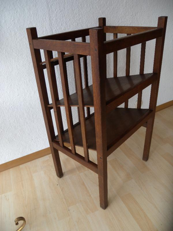 art deco bauhaus holz regal etagere zeitungsst nder b cherregal notenregal ebay. Black Bedroom Furniture Sets. Home Design Ideas
