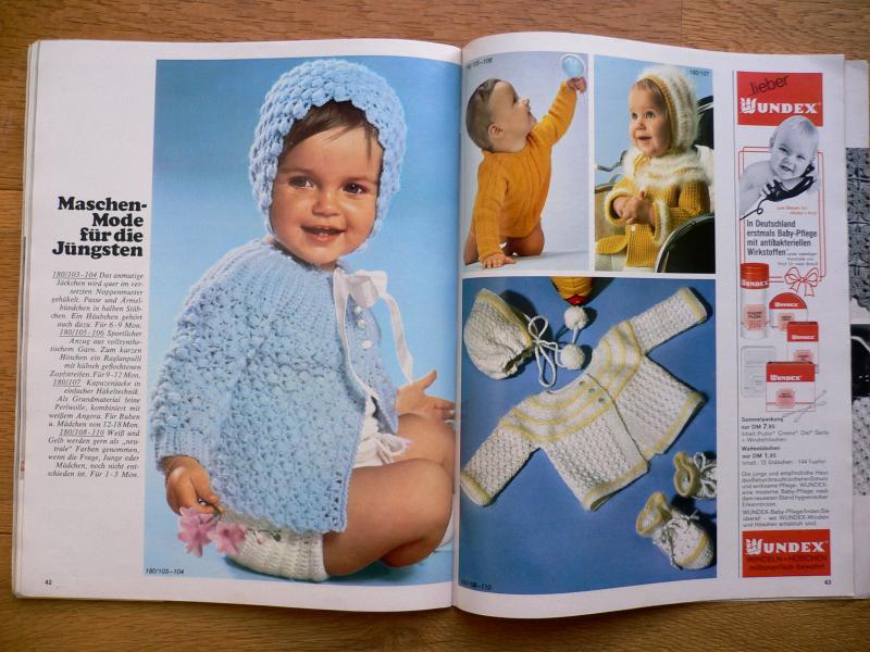 vintage 1969 burda baby stricken und h keln aenne burda verlag heft sh 18 69. Black Bedroom Furniture Sets. Home Design Ideas