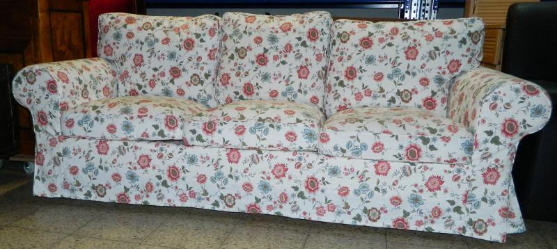 couch sofa mit blumenmuster 3 sitzer ebay. Black Bedroom Furniture Sets. Home Design Ideas