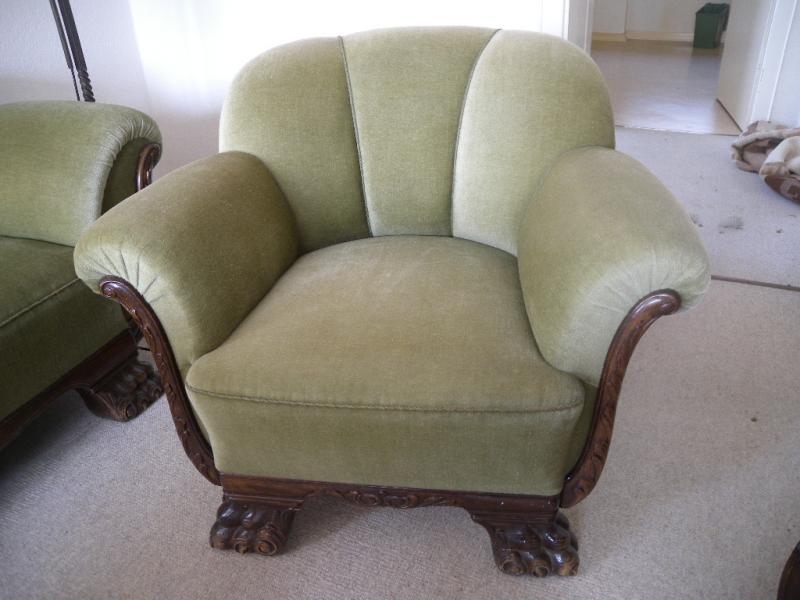art deco 1930 l wentatzen sofa 2 sessel tisch u 2. Black Bedroom Furniture Sets. Home Design Ideas