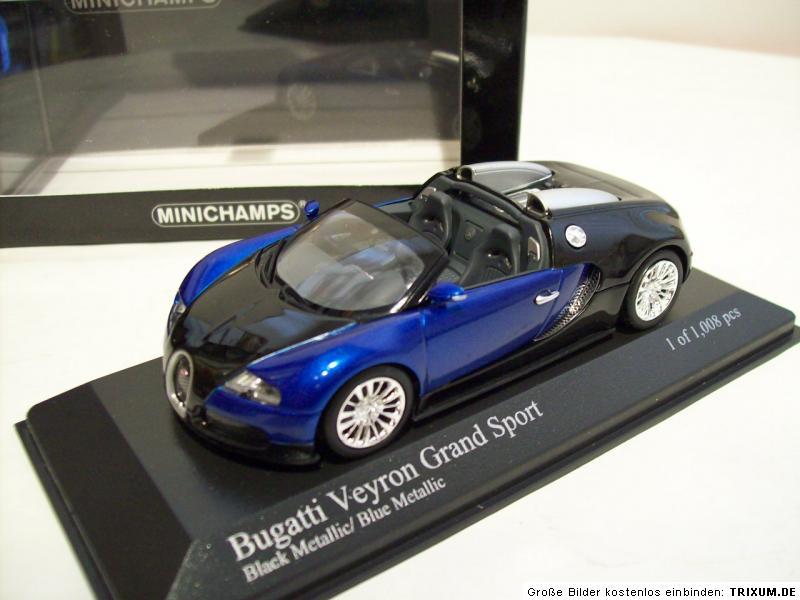 bugatti veyron grand sport 2010 schwarz blaumetallic. Black Bedroom Furniture Sets. Home Design Ideas