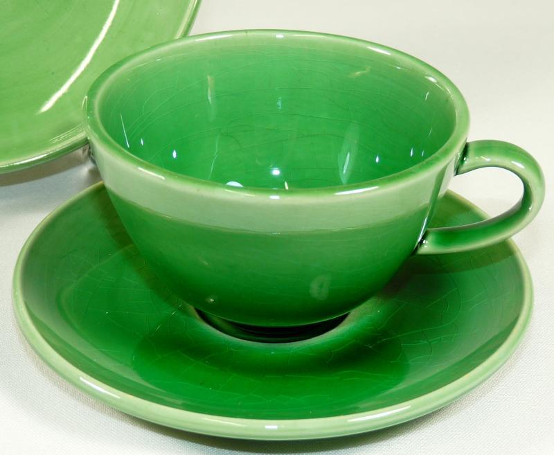 hedwig bollhagen hb 3tlg gedeck kaffeegedeck kaffeetasse keramik gr n ebay. Black Bedroom Furniture Sets. Home Design Ideas