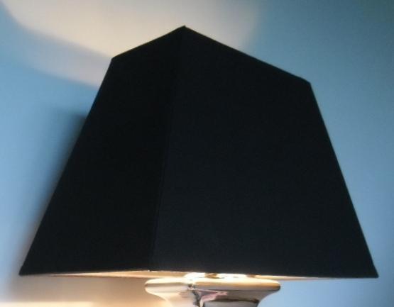 lampenschirm rechteckig leinen schwarz 32 cm breit 16 cm tief 20 5 cm hoch ebay. Black Bedroom Furniture Sets. Home Design Ideas