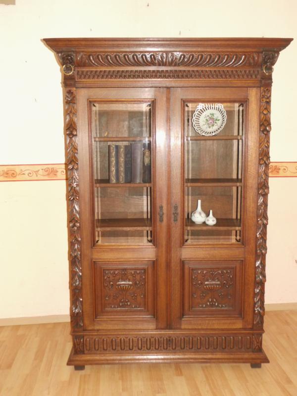 antik gr nderzeit mechelen b cherschrank b cherregal schrank eiche um 1890 ebay. Black Bedroom Furniture Sets. Home Design Ideas