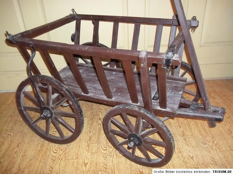 kleiner alter holz handwagen leiterwagen bollerwagen ebay. Black Bedroom Furniture Sets. Home Design Ideas