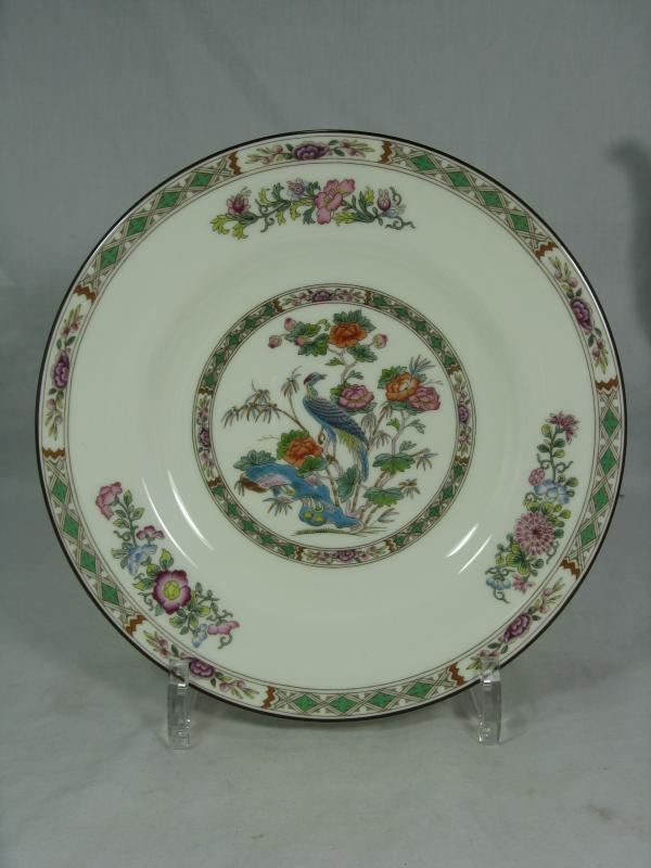 wedgwood fine bone china porzellan kutani crane plate teller 20 5 cm ebay. Black Bedroom Furniture Sets. Home Design Ideas