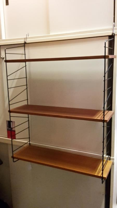 string regal mid century 3 etagen ebay. Black Bedroom Furniture Sets. Home Design Ideas