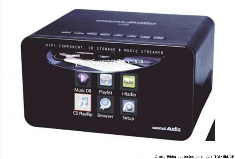 cocktail audio x 10 cd ripper streamer internetradio inkl. Black Bedroom Furniture Sets. Home Design Ideas