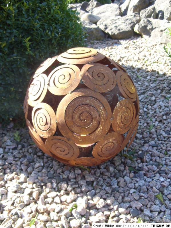 Edelrost kugel schneckekugel dekokugel windlicht 28 cm for Kugel rost garten