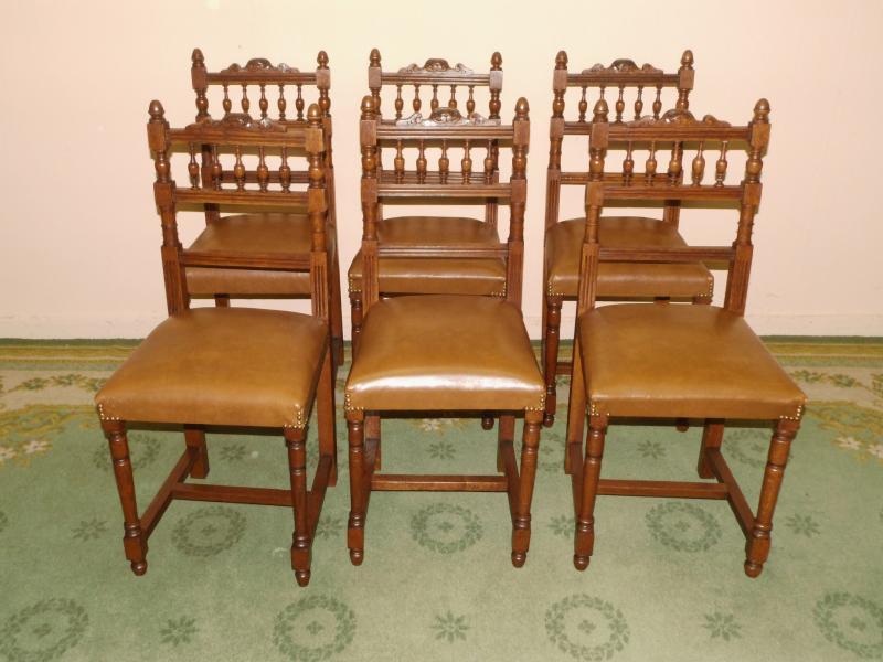 antik essgruppe sitzgruppe tisch 6 st hle eiche um 1920. Black Bedroom Furniture Sets. Home Design Ideas
