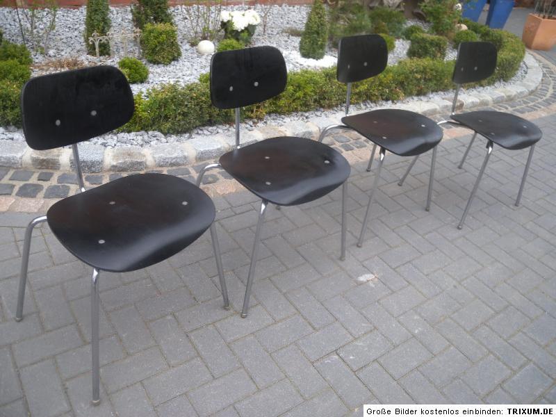 4 st ck chair wilde spieth egon eiermann stuhl se 68. Black Bedroom Furniture Sets. Home Design Ideas