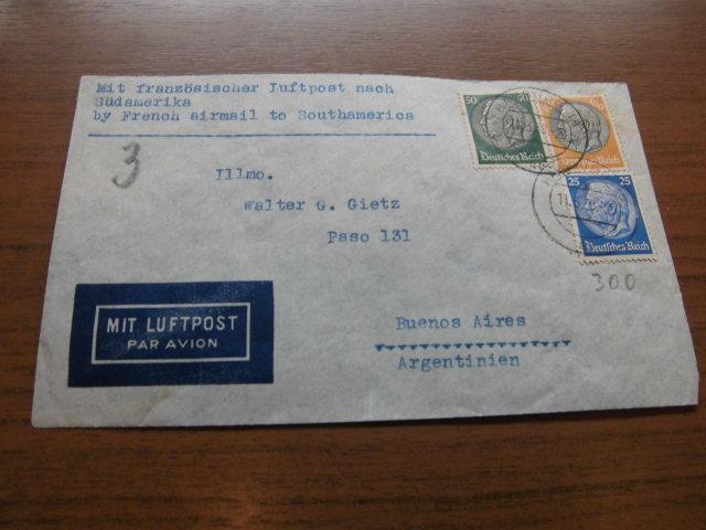 Briefe Mit Luftpost : Deutsches reich luftpost flugpost briefe nach