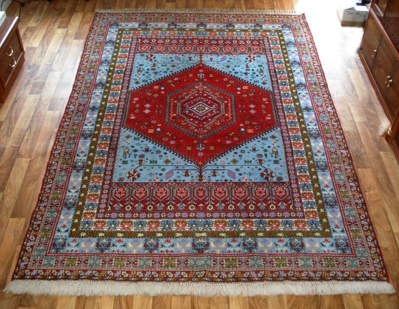 Tunesischer Teppich, Orient, handgeknüpft, aus Tunesien