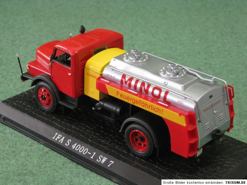 ifa s 4000 1 sw7 minol tankwagen ixo 1 43 lkw truck. Black Bedroom Furniture Sets. Home Design Ideas