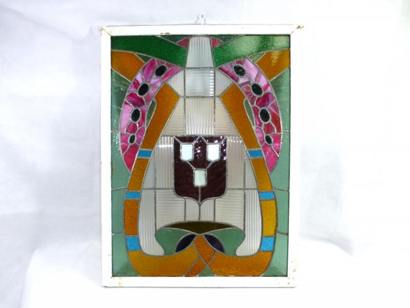 Stained glass windows window leaded glass um 1900 for 1900 stained glass window